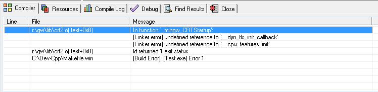 Dev C Build Error  Exe Makefile Win